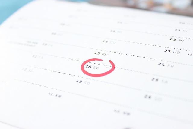 v kalendáři je zaškrtnuté datum, ten den bude splátka