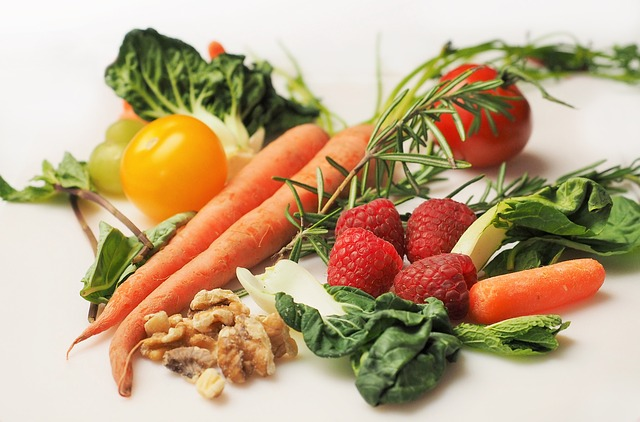 Ovoce, zelenina, zdravá strava.