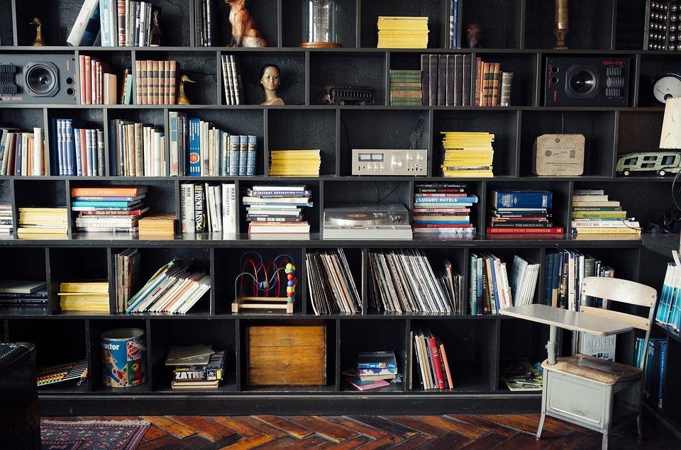 skříň knihovna
